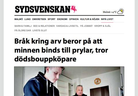 Artikel i sydsvenskan om Bohagstjänst
